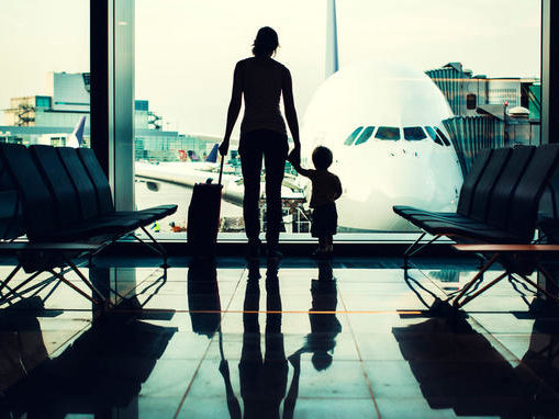 mother-and-son-at-airport